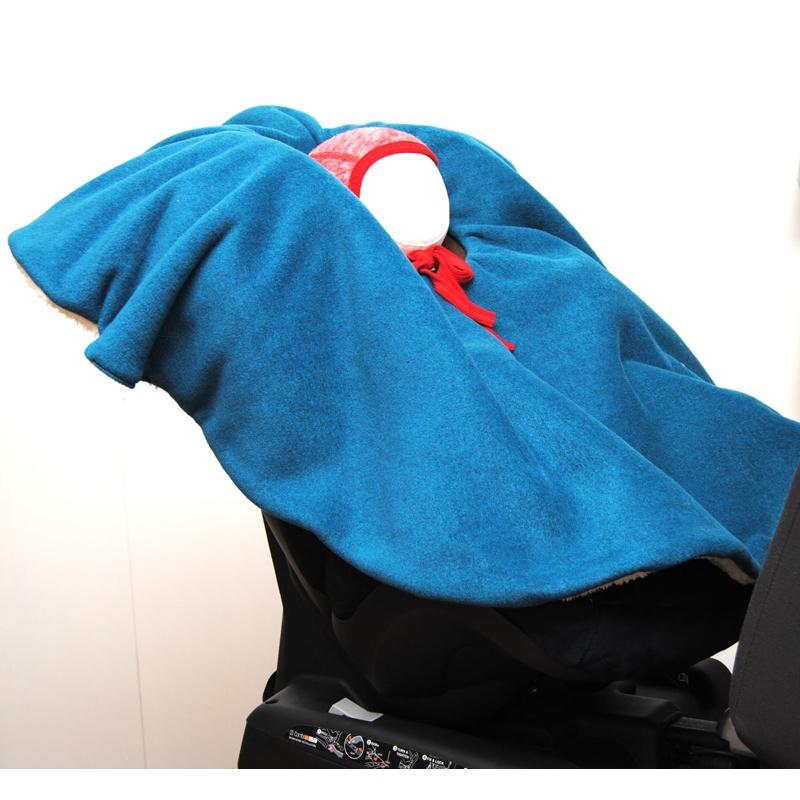 Kindersitz-Poncho Ökotex+kbA-Bio - Petrol