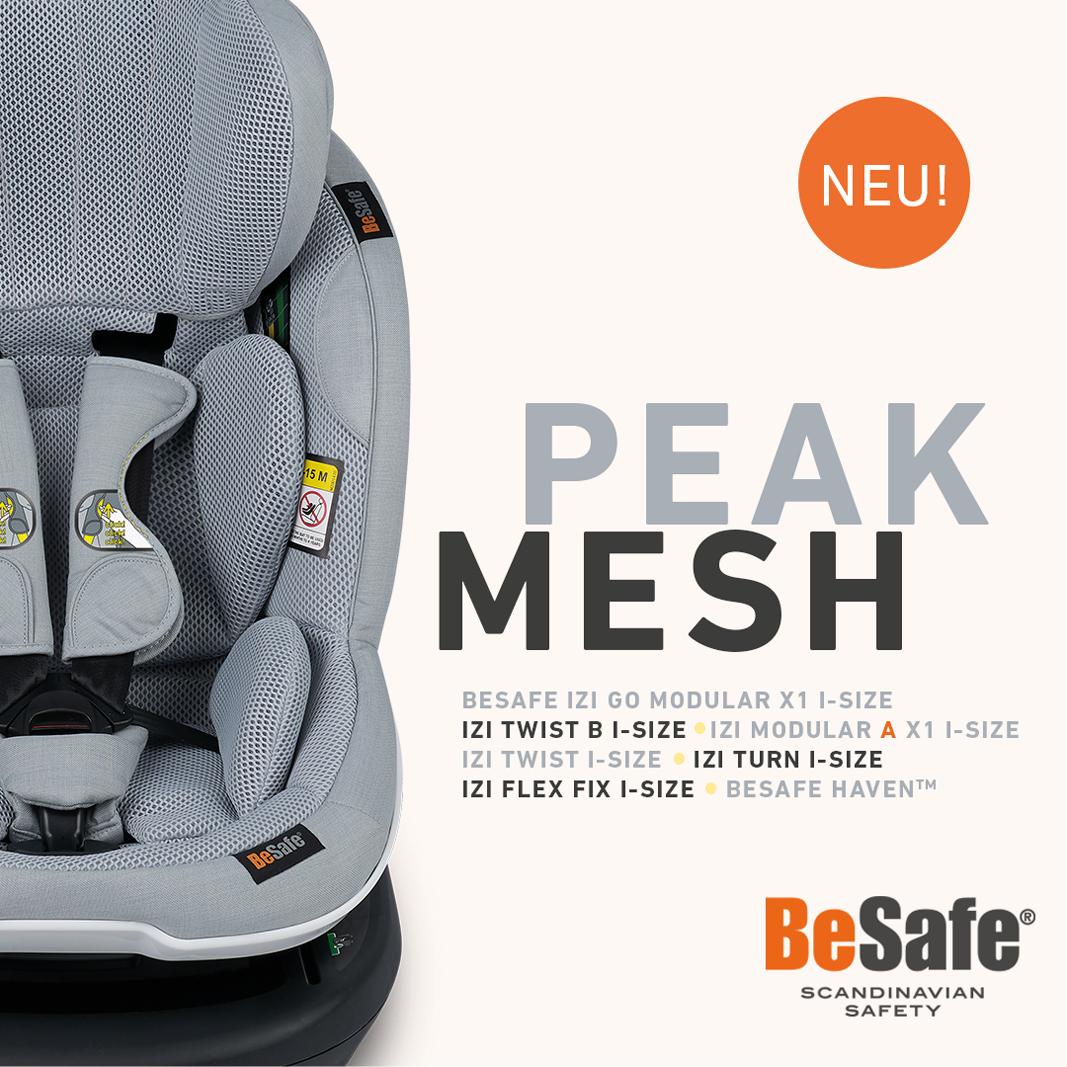 Das neue - edle & funktionale - BeSafe-Gewebe 3D-Mesh