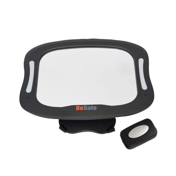 BeSafe XL-Spiegel mit LED-Beleuchtung & Fernbedienung